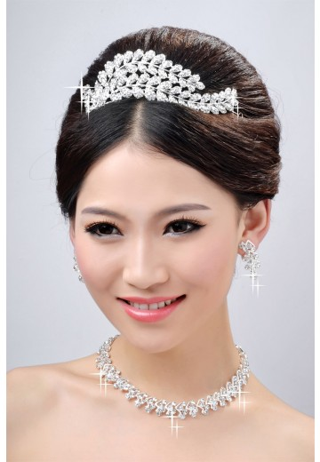 Wedding Headpieces Necklaces Earrings Set ZDRESS4035