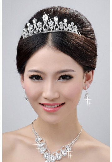 Wedding Headpieces Necklaces Earrings Set ZDRESS3983