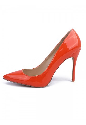 Orange Heel Evening Shoes S5MA04104LF
