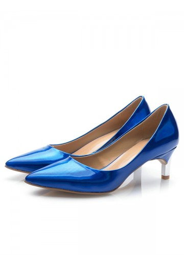 Royal Blue Cone Heel Party Shoes S5MA0457LF