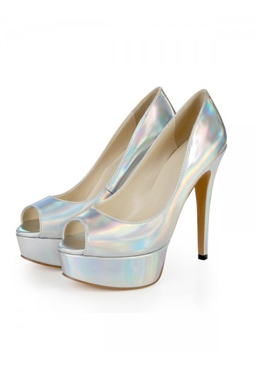 Platform Heel Wedding Shoes SLSDN1479LF