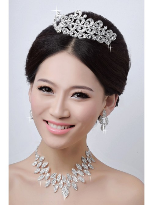 Wedding Headpieces Necklaces Earrings Set ZDRESS4027