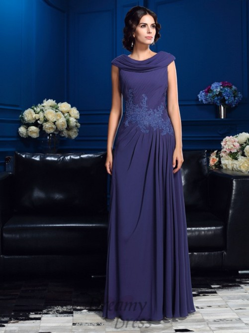 A-line Floor-Length Chiffon Mother Of The Bride Dress