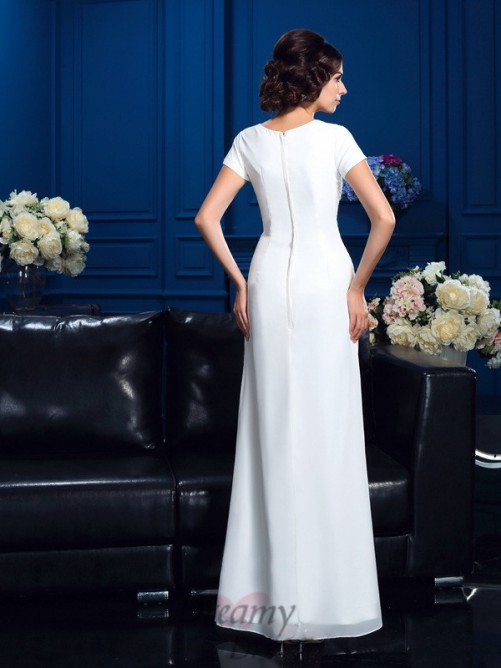 A-line Scoop Asymmetrical Chiffon Mother Of The Bride Dress