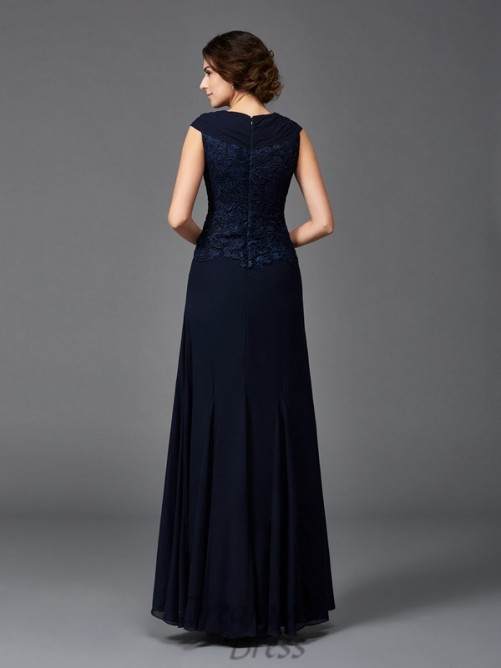 A-line Straps Lace Ankle-Length Chiffon Mother of the Bride Dress