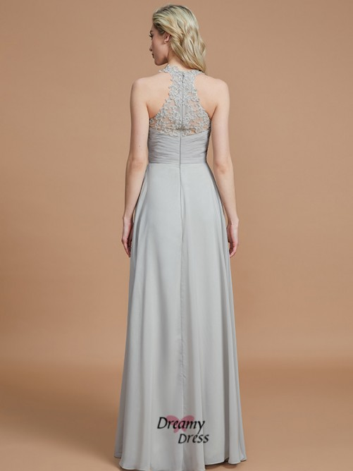 A-Line/Princess Sweetheart Ruched Floor-Length Chiffon Bridesmaid Dress