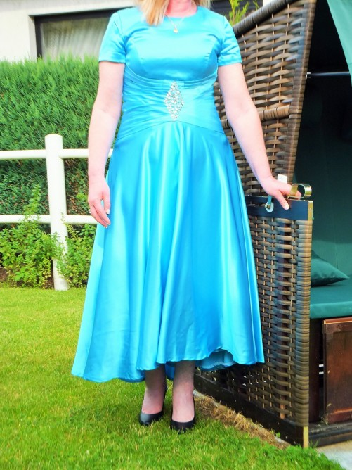 A-Line/Princess Scoop Ankle-Length Elastic Woven Satin Mother Of The Bride Dress