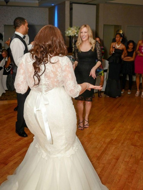 Mermaid Lace Tulle Off-the-Shoulder Sweep/Brush Train Wedding Dress