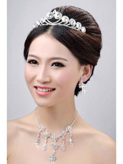 Wedding Headpieces Necklaces Earrings Set ZDRESS3987