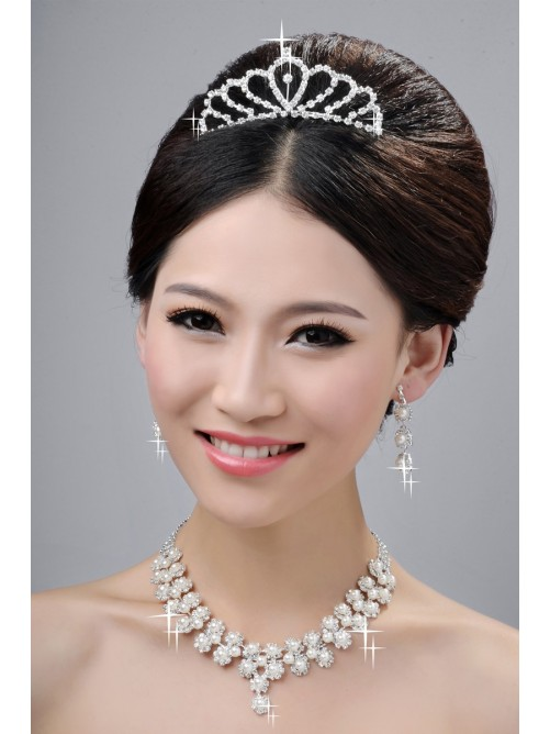 Wedding Headpieces Necklaces Earrings Set ZDRESS3876