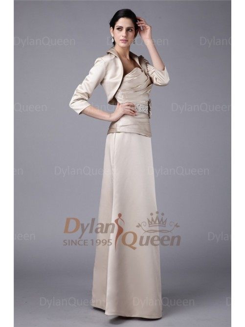 Elegant 3/4 Sleeves Elastic Woven Satin Jacket/Wedding Wrap