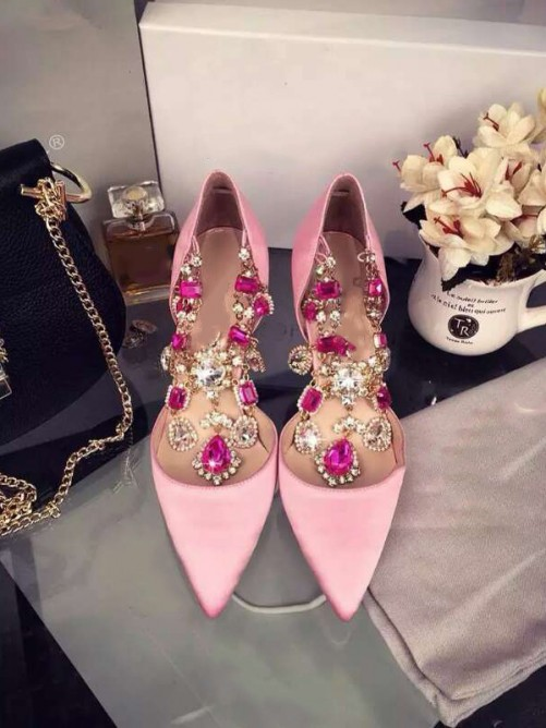Pink Heel Chain Party Shoes S3LSDN050414LF