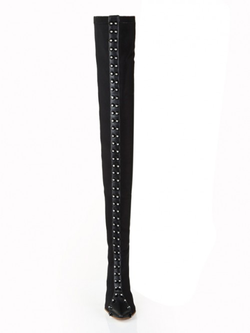 Elastic Heel Over The Knee Boots S5LSDN1274LF