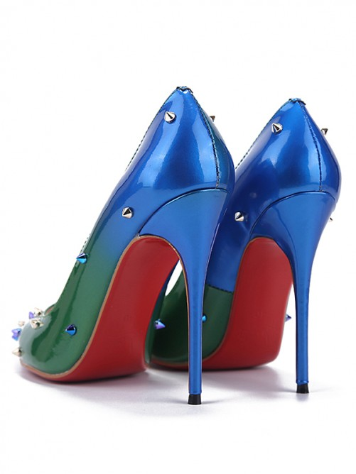 Women's Pointed Toe Patent Leather Stiletto Heel Shoes