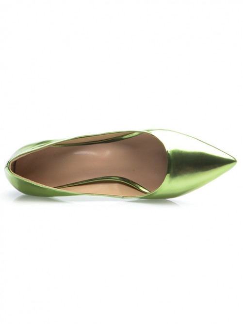 Green Cone Heel Party Shoes S5MA0459LF