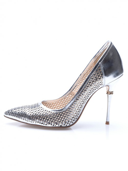Silver Heel Evening Shoes S5MA0474LF