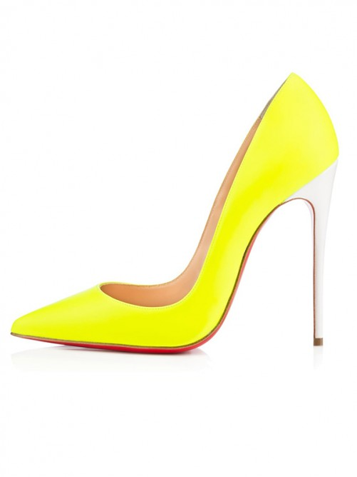 Yellow Heel Evening Shoes S5MA0484LF