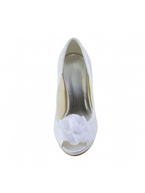 Heel Wedding Shoes Flower S537027