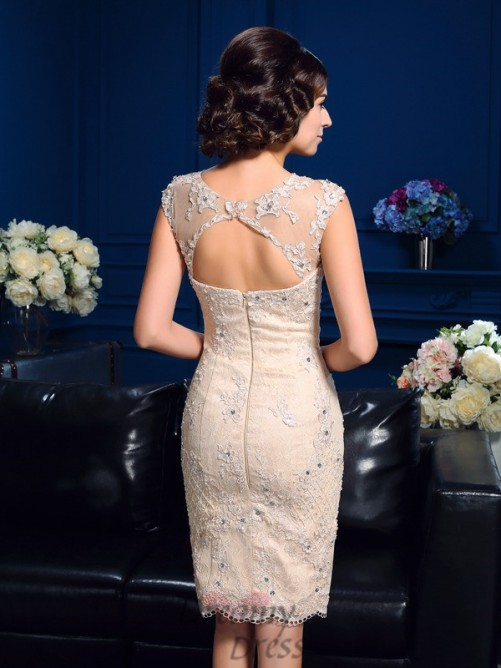 Sheath/Column Short Lace Mother Of The Bride Dress