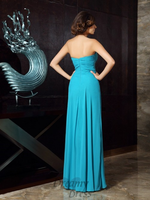 Sheath/Column Sweetheart Chiffon Floor-Length Mother of the Bride Dress