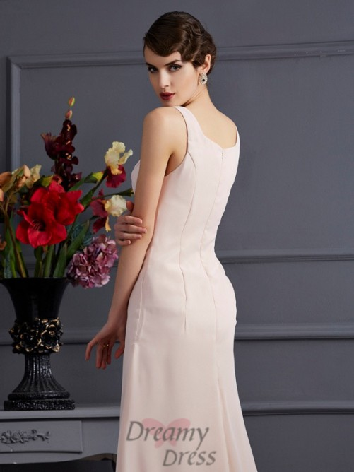 Square Chiffon Floor-Length Mother of the Bride Dress