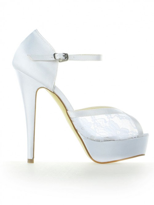Lace Platform Heel Wedding Shoes SW115201261I