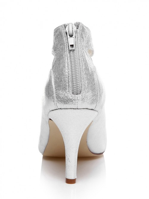 Women's Spool Heel Closed Toe With T-Strap Wedding Shoes