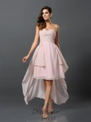 A-Line/Princess Sweetheart Chiffon Asymmetrical Bridesmaid Dress