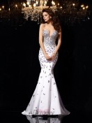 Trumpet/Mermaid Sweetheart Satin Court Train Dress
