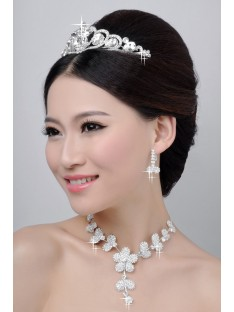 Wedding Headpieces Necklaces Earrings Set ZDRESS4023