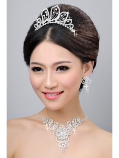 Wedding Headpieces Necklaces Earrings Set ZDRESS4034