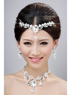 Wedding Headpieces Necklaces Earrings Set ZDRESS4033