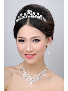 Wedding Headpieces Necklaces Earrings Set ZDRESS4019