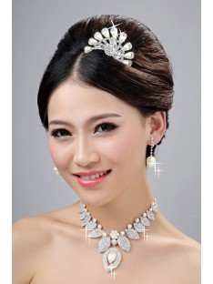 Wedding Headpieces Necklaces Earrings Set ZDRESS4020