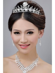 Wedding Headpieces Necklaces Earrings Set ZDRESS4018