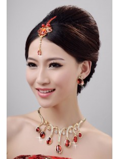Wedding Headpieces Necklaces Earrings Set ZDRESS4036