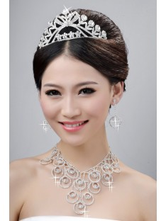 Wedding Headpieces Necklaces Earrings Set ZDRESS4037