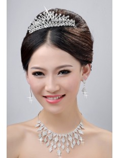 Wedding Headpieces Necklaces Earrings Set ZDRESS4028