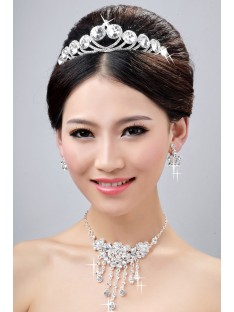 Wedding Headpieces Necklaces Earrings Set ZDRESS4032