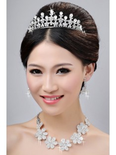 Wedding Headpieces Necklaces Earrings Set ZDRESS4030