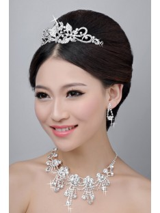Wedding Headpieces Necklaces Earrings Set ZDRESS4029