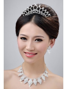 Wedding Headpieces Necklaces Earrings Set ZDRESS4021