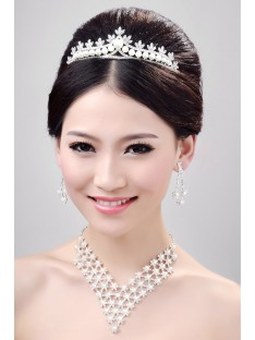 Wedding Headpieces Necklaces Earrings Set ZDRESS4026