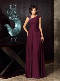 A-Line/Princess Chiffon Floor-Length Mother of the Bride Dress