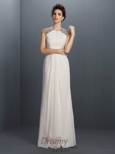 A-Line/Princess Chiffon Long Dress