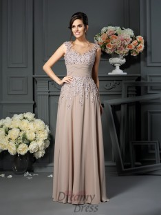 A-Line/Princess Scoop Floor-Length Silk like Satin Mother of the Bride Dress