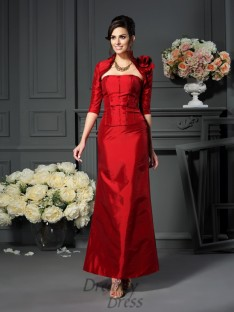 A-Line/Princess Strapless Ankle-Length Taffeta Mother of the Bride Dress