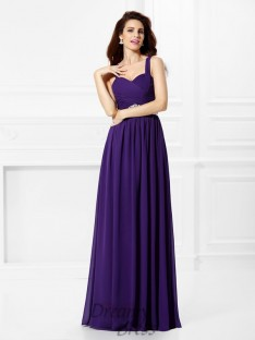 A-Line/Princess Sweetheart Chiffon Long Dress