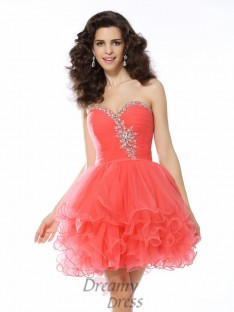 A-Line/Princess Sweetheart Satin Short/Mini Dress
