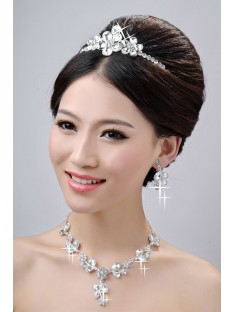 Wedding Headpieces Necklaces Earrings Set ZDRESS4015